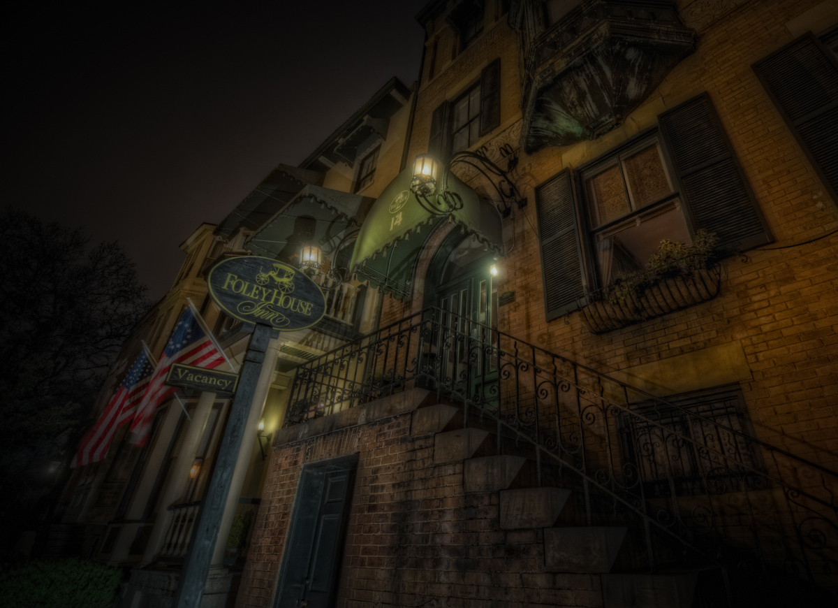 On our Savannah Ghost Tours you'll hear the story of the Foley House Inn