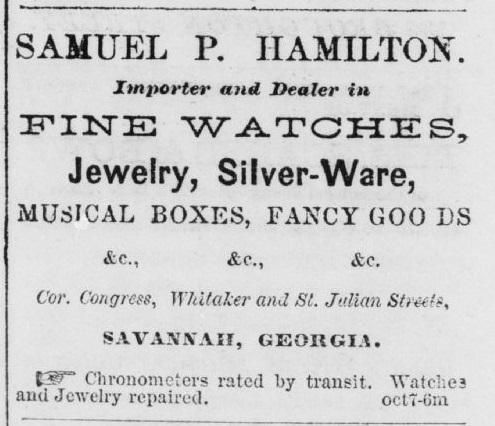 Samuel P Hamilton Business Ad