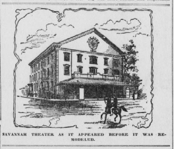 Savannah Theater Before 1840