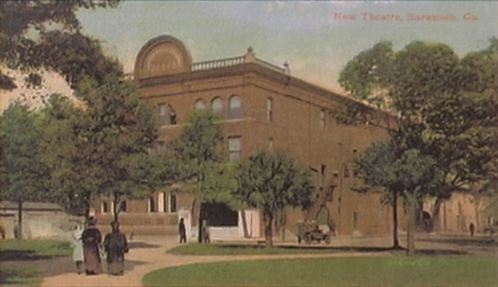 Savannah Theater Post Card 1906